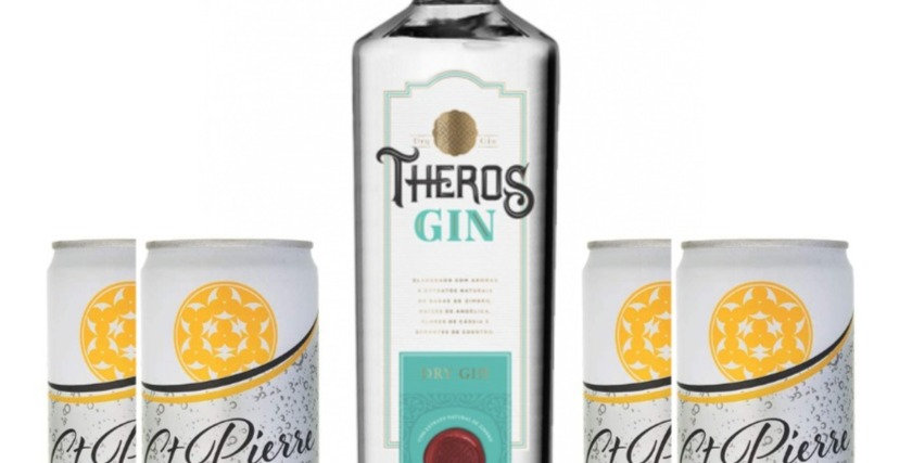 Combo Gin Theros + 4 tônicas St Pierre