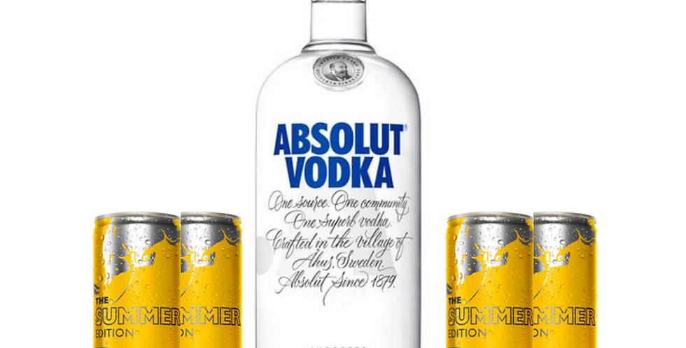 Combo Absolut + 4 Red Bull Summer