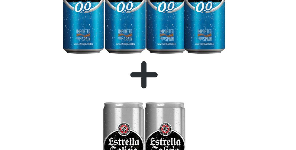 Estrella Galicia lata 0% alcool compre 4 e leve 2 grátis