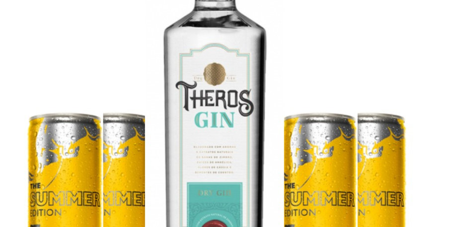Combo Gin Theros + 4  Red Bull Summer
