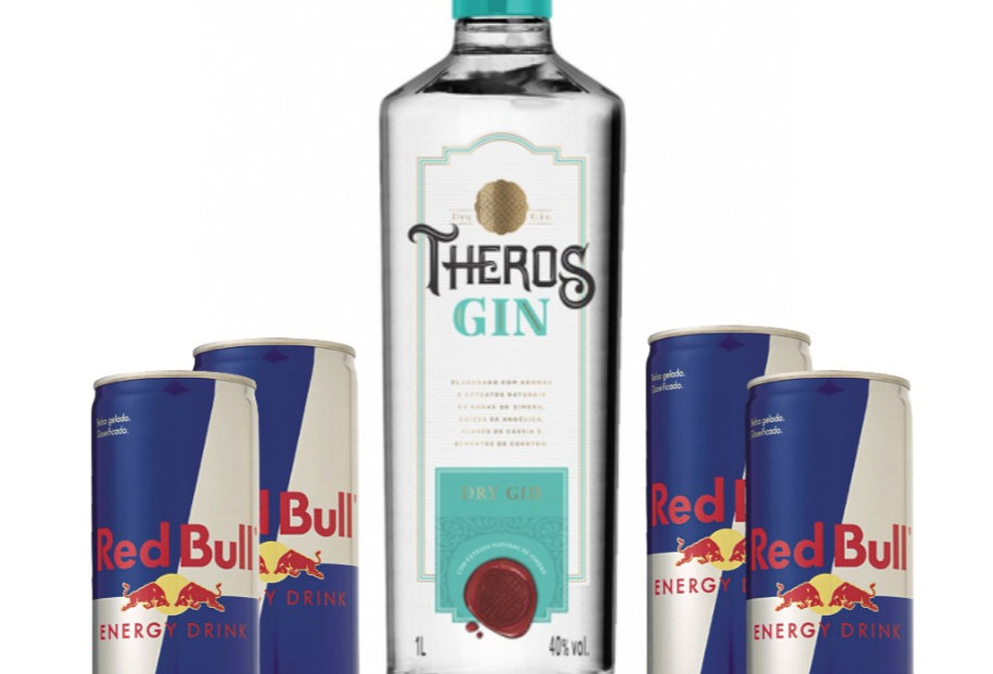 Combo Gin Theros + 4 Red Bull