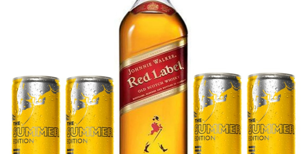 Combo Red Label + 4 Red Bull Summer