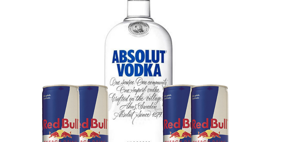 Combo Absolut + 4 Red Bull