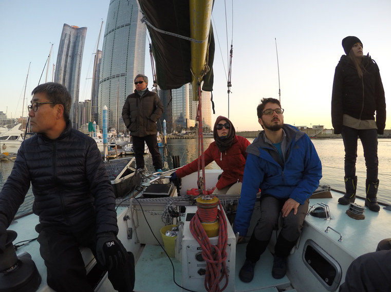 The idea of Tied to the Sea started on this sailboat in Busan, South Korea - shoutout to Captain Lee Jae Ho and the crew for putting up with us! We have since filmed in 8 more countries around the world, gathering stories and ideas from scientists, activists and lovers of the ocean. It's been one hell of a journey and we can't wait to share it all with you soon. Many thanks and big love for all of your support, and more importantly, your commitment to fighting for greater protection of our oceans.