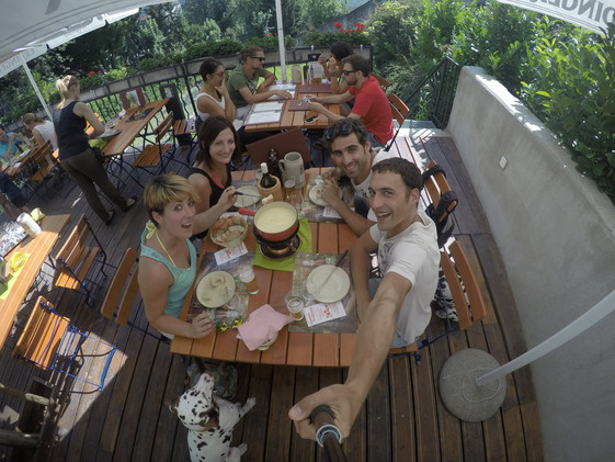 Nuestros amigos, que viven en Lausane, hicieron de anfitriones