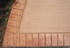 Integral Broom Finish w/ Brick Border (1 Pour)