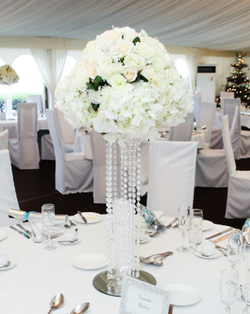 Conical Vase with Hydrangeas & Roses