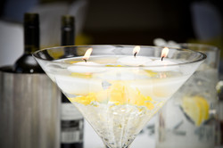 Martini with floating candles