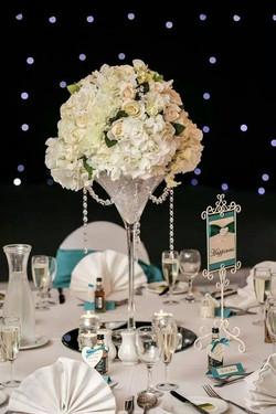 Martini Vase with Rose & Hydrangeas