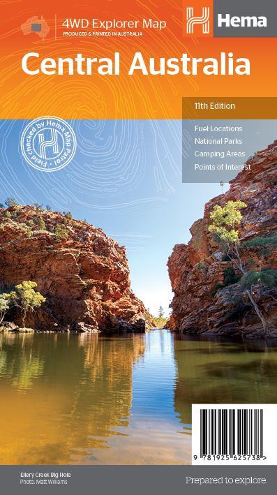 Central Australia Map 11th Edition
