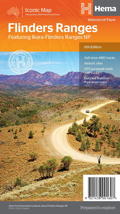 Flinders Ranges Map 6th Edition