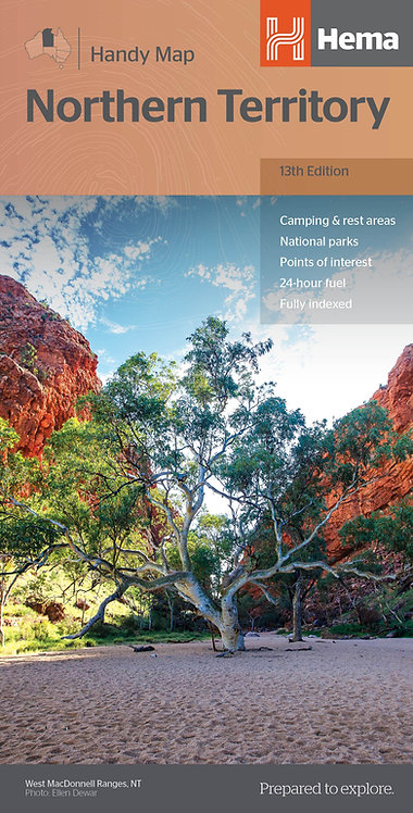 Northern Territory Handy Map 13th Edition