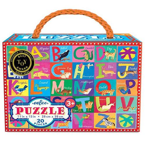 Animal Alphabet 20 Piece Puzzle