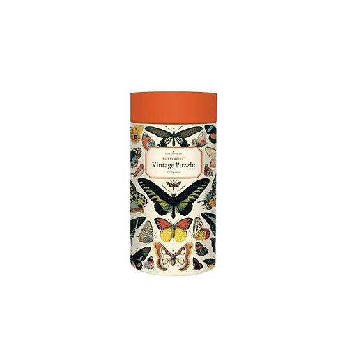 Cavallini Vintage 1000 pc Puzzle Butterflies