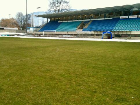 Stade de foot déneigé   Pottu&Seitz SA