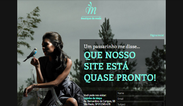 Landing Pages website templates – Em Breve - Moda