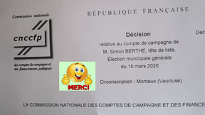 Compte de campagne approuvé par la commission nationale