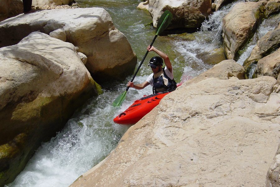Kayaking in Judean desert, Israel