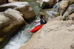 Kayaking in Judean desert, Israel