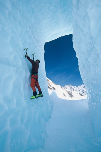 Ice Climbing, Tasman Glacier, NZ