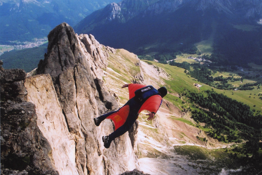 Wing Suit Flying Italian Dolomites
