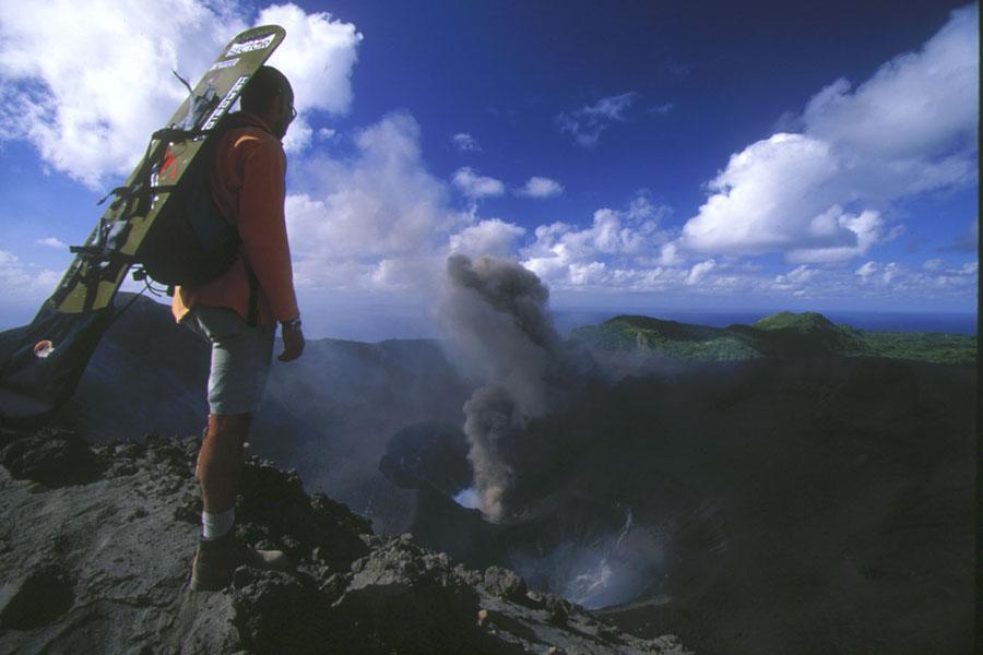 Sand Boarding a Volcano, Vanuatu