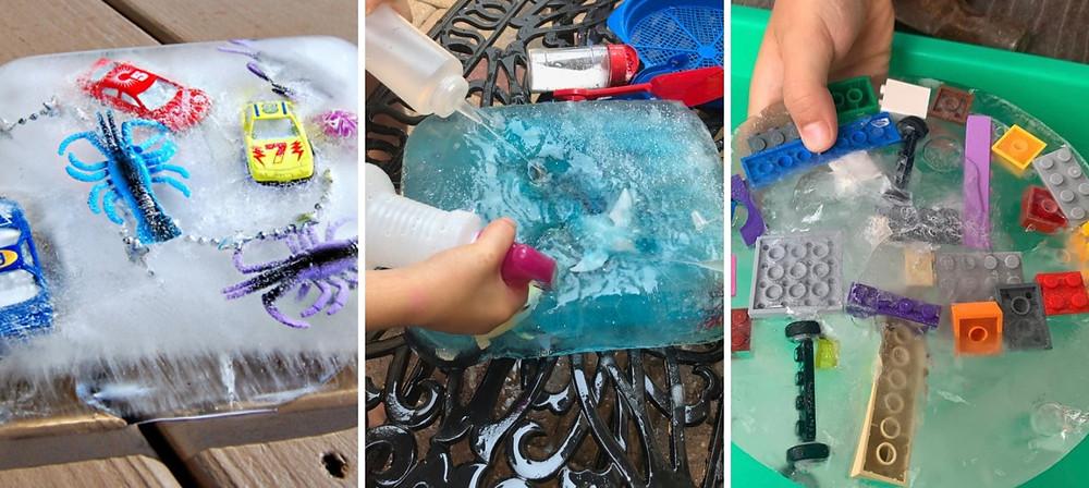 Ice excavations