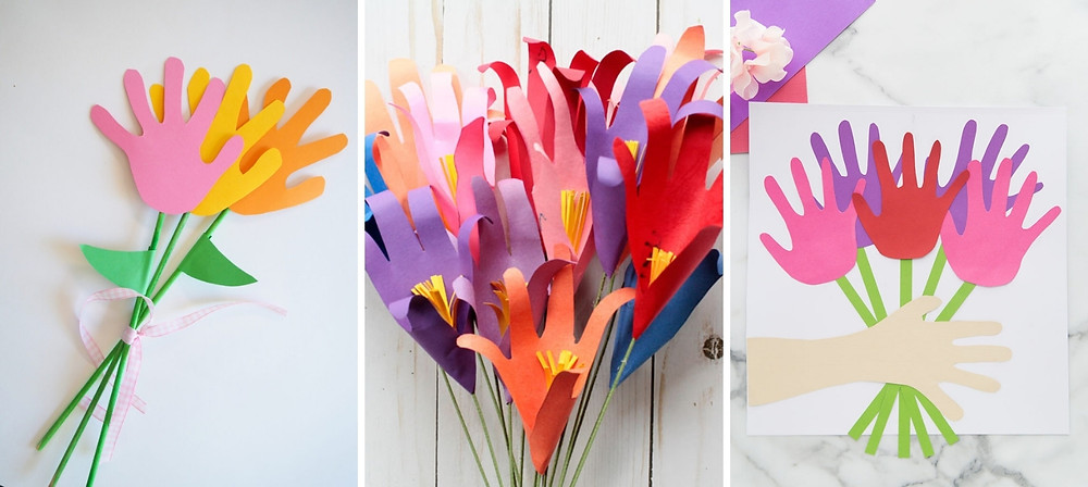 Handprint Flower Bouquet
