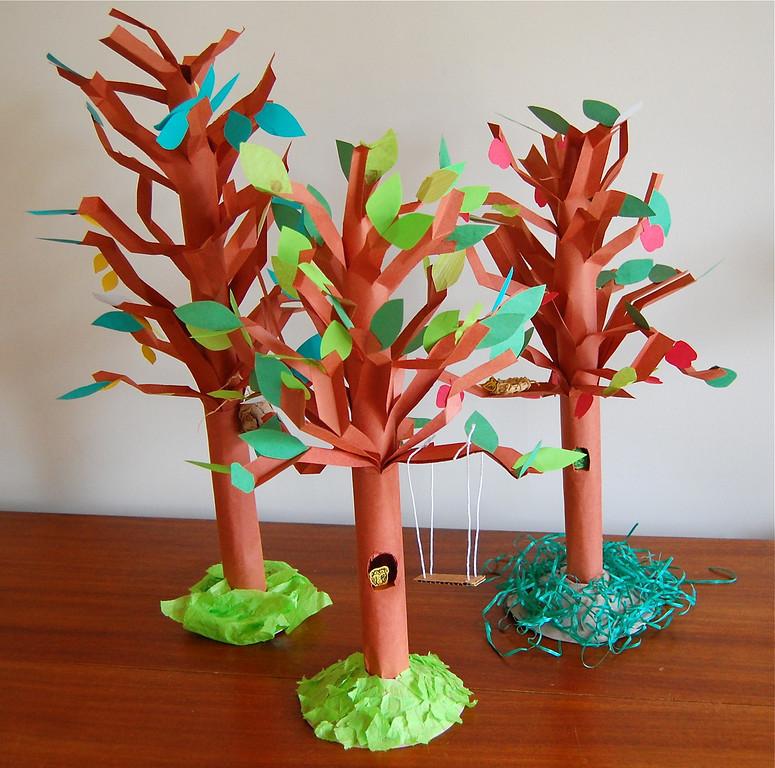 3-D Paper Trees