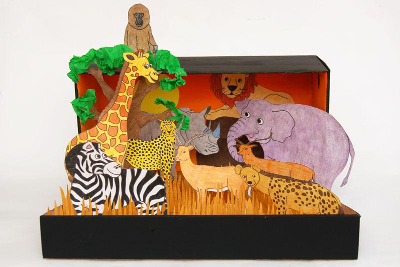 African Savanna Diorama
