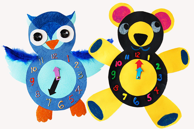 Animal Paper Clocks