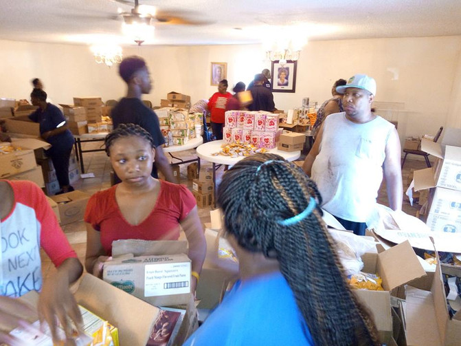 Byhalia, MS received aide from Shiloh Food Bank