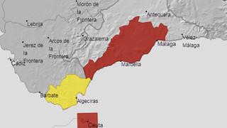 Máxima precaución: Activado aviso rojo por fuertes lluvias esta noche en Málaga