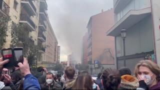 Urgente: Gran explosión en un edificio del centro de Madrid