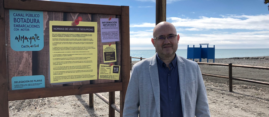 La playa de Almayate ya cuenta con una zona de botadura pública y gratuita pionera en Andalucía