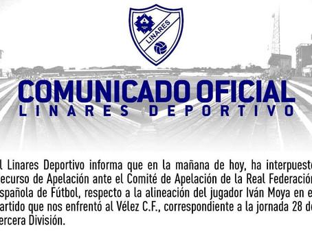 El Linares, incansable. Presenta recurso contra el Vélez