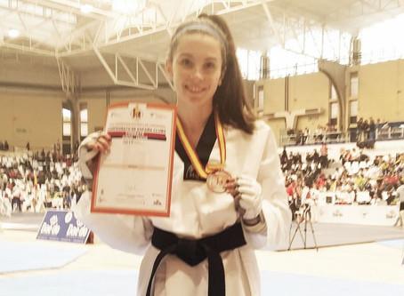 La torreña Lucía Triano, bronce en el campeonato de España de taekwondo