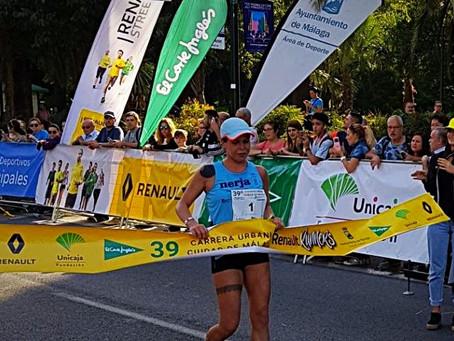 Abdeladhi El Mouaziz y Rebeca García ganan la Carrera Urbana Ciudad de Málaga