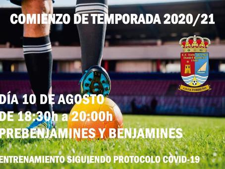 La Escuela de Fútbol de Torre del Mar inicia el lunes la temporada 20/21