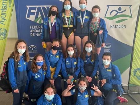 El Natación Axarquía, tercero en el campeonato andaluz alevín femenino
