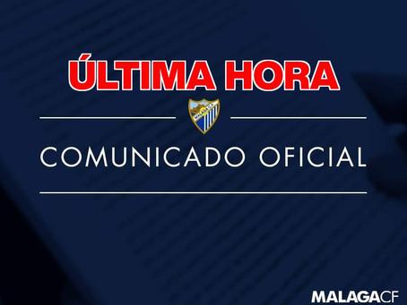 Urgente: Cinco positivos por coronavirus en el Málaga Club de Fútbol