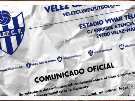 """El Vélez destapa que hay personas que han querido """"hacer negocio"""" con el club"""