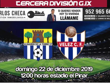 El Vélez cierra el año 2019 ante el Alhaurín de la Torre en el Pinar (Dom.12:00)