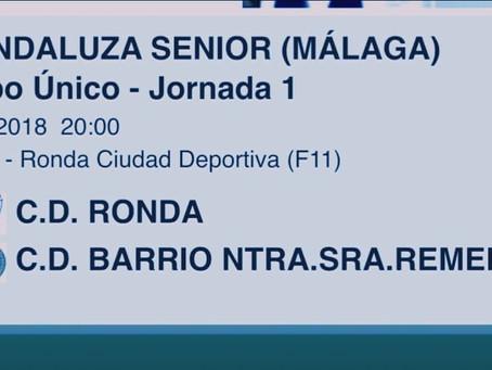 El Barrio golea en su debut de la temporada ante el CD Ronda (0-3)