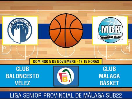 El Club Baloncesto Vélez se mide al filial de Medac Básket en Carranque (Dom. 17:15)