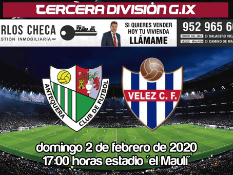 El Vélez buscará el golpe de efecto a su mala dinámica en Antequera (Dom.17:00)