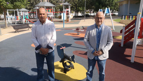 Finalizan las mejoras en la zona infantil del Parque María Zambrano de Vélez-Málaga