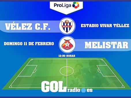 El Vélez recibe al Melistar, un partido donde está prohibido fallar (Dom.12:00)