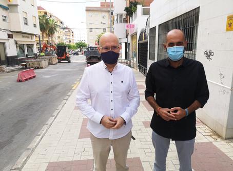 Inician la renovación de abastecimiento de agua en calles Hermanos Pinzón y Elcano