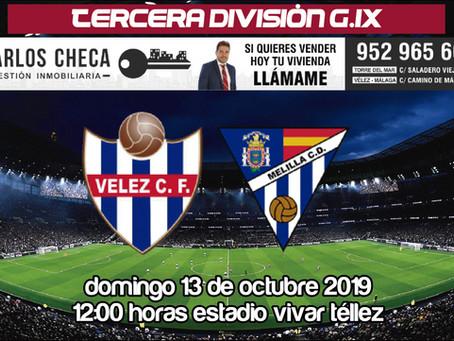 El Vélez busca una vía de escape en cu partido ante el Melilla (Dom.12:00)